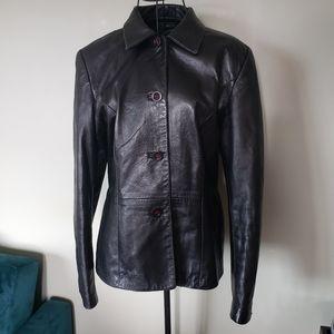 Danier buttery soft black leather jacket